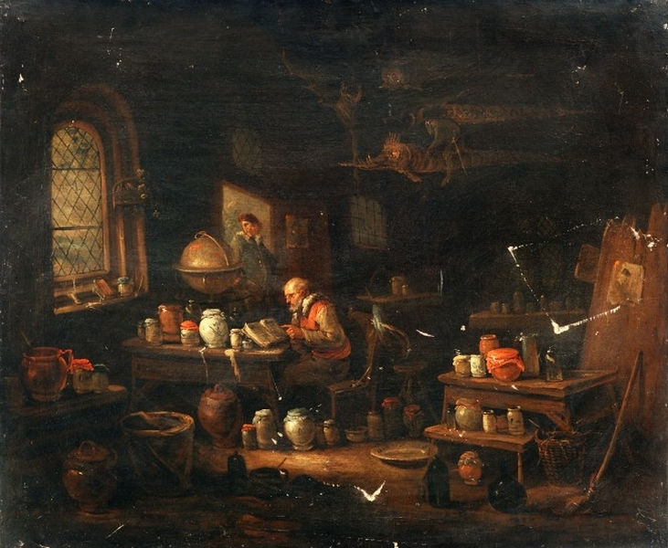 Alchemical Laboratories Paintings 16th And 17th Centuries